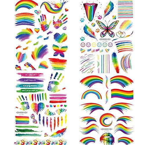 Gay Pride Zubehör - 4 Blatt Gay Pride LGBT Regenbogen