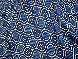 indiano tessuti Block stampa tessuto stampato a mano indaco tessuto per quilting tessuto di cotone