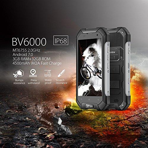 M  viles y Smartphones Libre Blackview BV6000 Smartphone Dual Sim  Android 7 0 4G M  vil Ip68 Octa-Core 3GB RAM   32GB ROM - 4500mAh Grande Bater  a -