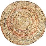 LiRuShop Teppiche Matten Teppich Teppichbodenmatte handgewebter runder Juteteppich Wohnzimmer Schlafzimmer Couchtisch Teppichboden Bodenmatte (Color : Natural, Size : 150 * 150cm)