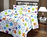 #6: Renown Colourful Stars Design Reversible Double Bed Quilt / AC Blanket / Dohar ( Pack Of 1 Pc )