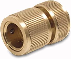 """Messing Easy klick Schlauchkupplungen Schnellschlauchstück mit Wasserstop 13mm (1/2"""") oder 19mm (3/4"""")"""