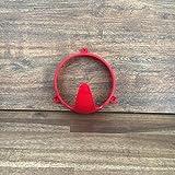 netproshop GEWA Halfterhaken Strickhaken Strickhalter Wandhaken Haken sehr stabil, Farbe:rot