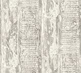 A.S. Création Vliestapete Côte d`Azur Tapete in maritimer Vintage Holz Optik 10,05 m x 0,53 m creme grau Made in Germany 354134 35413-4