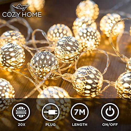 CozyHome marokkanische LED Lichterkette - 7 Meter