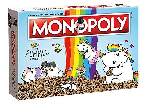 Monopoly Pummeleinhorn Brettspiel Gesellschaftsspiel Einhorn Spiel Deutsch NEU (mit Kartenspiel Pummeleinhorn)