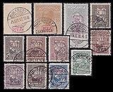 Goldhahn Deutsche Besetzung Rumänien gestempelt mit Nr. KS 3y,7x+y, F II, F V Briefmarken für Sammler