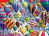 Riou DIY 5D Diamant Painting voll,Stickerei Malerei Diamant Heißluftballon Bild Muster Crystal Strass Stickerei Bilder Kunst Handwerk für Home Wall Decor gemälde Kreuzstich (Mehrfarbig, 30 * 40cm)
