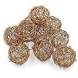 Natur Rattan herabhängenden Bällen für Hochzeit Party Dekoration Ornaments, 8 cm