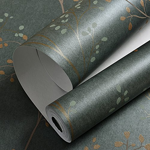 american-country-vintage-dark-green-nonwoven-wallpaper-living-room-living-room-tv-background-wall-ga