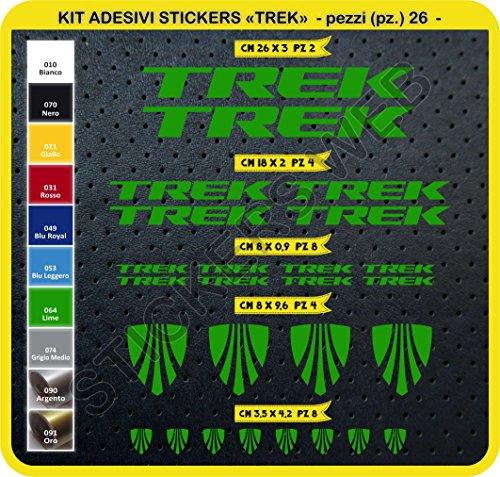 Preisvergleich Produktbild Selbstklebend Aufkleber Kit Bike Trek Aufkleber 26 SCEGLI erlitten colore- Bike Cycle PEGATINA Cod. 0115 - Verde Lime cod. 064