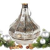 albena shop 71-5240 Jadoo orientalisches Windlicht Laterne 30cm Metall (silber / innen gold)