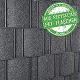 Florenz (grau) - Design Vlies Sichtschutz Streifen Mattenzaun inkls. Klemmschienen - PVC frei
