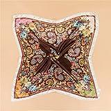 Materiale: chiffon  formato (CM): 90 * 90  caratteristiche: decorazione  appropriata stagione: primavera, estate, autunno  metodo di tessitura: tessitura piana