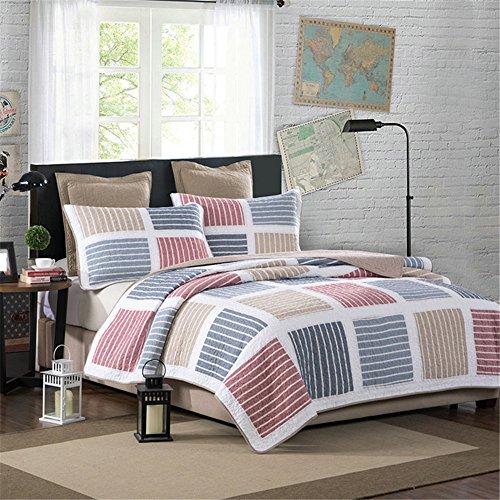 RFVBNM American Cotton Garn gefärbt Hand Quilt drei Sätze von Klimaanlage Quilt Sommerdecke 230 * 250cm (Pfund Baby-garn)
