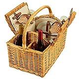 Best Picnic at Ascot Picnic Blankets - Picnic at Ascot Vineyard Willow Picnic Basket, Natural/Diamond Review