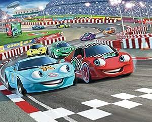 Walltastic Car Racers Wallpaper Mural 8ft x 10ft