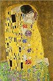Poster 40 x 60 cm: Der Kuss (Hochformat) von Gustav Klimt - Hochwertiger Kunstdruck, Kunstposter