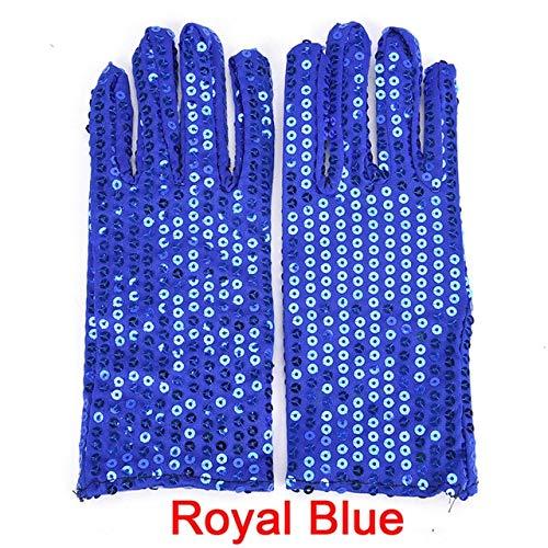 KBWL Michael Jackson Erwachsene Handschuhe Abend Party Kostüm Handschuhe Pailletten Handschuhe Tanz Kindergarten Kinder Handschuhe 16x7,5 - Das Ist Es Kostüm Michael Jackson