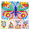 ONEVER 296Pcs Mushroom Nails Jigsaw Puzzle Pegboard for Kids, Totally 6 Colors, A Perfect Gift for your Children