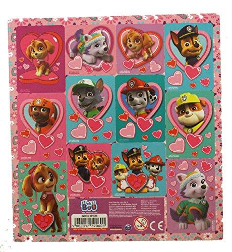 10 Bogen Set Paw Patrol 12er Stickerbogen Sticker Mitgebsel (für Mädchen)