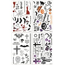 TrifyCore Halloween Etiquetas Engomadas Temporales del Tatuaje Diseños Populares del Artefacto de Papel de la Etiqueta