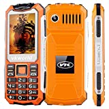 VKworld Stone V3S Daily Waterproof 2200mAh Long Standby Mobile Phone 2.4 inch Two LED Outdoor Shcokproof Dustproof Cell Phone (Orange)