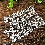 P12cheng Fustelle Metallo Stencil,Cutting Dies,Il Taglio di Metallo della Lettera dell'alfabeto Capitale Muore Stampino di Carte di Carta di Scrapbooking di DIY
