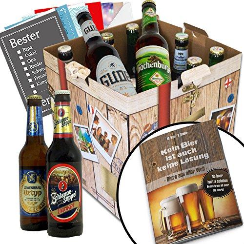 """24x Biere """"Welt & Deutschland"""" Geschenkbox mit Bier aus Singapur + Dänemark + Türkei +…Pilsener Urquell + Efes + Miller +… und aus Deutschland. Tolles Bier Geschenk für"""