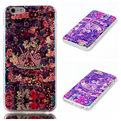 iPhone 6 Plus/6s Plus Funda Silicona, iPhone 6 Plus/6s Plus Funda Slim, M. jvisun carcasa TPU flexible suave caucho de silicona Carcasa de Gel Skin Perfect Fit – Carcasa para Apple iPhone 6 Plus/iPhone 6s Plus, E-Floral Forever Rubber Silicone Gel Glossy Cover, For iPhone 6 Plus / iPhone 6S Plus (5.5 Inch)