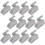 lovelyhome Wardrobe Cabinet Hinge LED Motion Sensor Night Light System (White, 0.25 W) - Set of 12 Pack