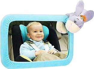 Baby Rücksitzspiegel, VicTsing Spiegel Auto Baby mit einem niedlichen Esel Cover, 3 Seil-Loops zum Aufhängen der Puppen, konvexe Wide Reflection, Acryl-Kunststoff-Glas, 360 ° einstellbare Rotation mit doppelten verstellbaren Trägern, sicher und bruchsicher