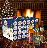 Bavariashop Adventskalender für Bierkenner, originelle Geschenkidee, zünftig bayerisch, 23 Flaschen und Glas inklusive