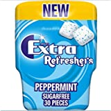 Extra Refreshers Chewing Gum, Sugar Free, Peppermint Flavour, 30 Pieces