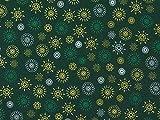 Weihnachtsstoff Christmas Mandala, grün , Meterware ab 0,5