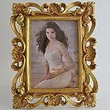 Giftgarden antiker 13x18 Bilderrahmen mit Barock-Stil golden Geschenke für Freunde -