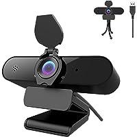 Webcam 1440P mit Mikrofon, 2K Full HD PC Web-Kamera mit automatischer Lichtkorrektur, 115° Sichtfeld, USB 2.0 Plug…