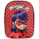 Prodigiosa Las aventuras de Ladybug - Pequeña mochila de niña para jardín de infancia - 30 x 24 x 10 cm - Perletti