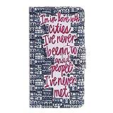 Nancen Samsung Galaxy Note 4 / SM-N9100 (5,7 Zoll) Hülle, Painted Muster Flip Case PU Leder Handytasche Cartoon Schreiben Landschaft Bunt Blumen Tier Praktisches Design Wallet Etui Lederhülle Handy Schutzhülle Bookstyle Cover