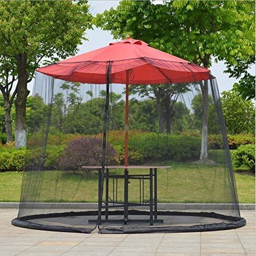 YNNHOME Outdoor Moskitonetz für Sonnenschirme, Moskitonetz für Pavillon Insektenschutz, Polyester, Beinhaltet 3 Größen und 2 Farben,Black,11'