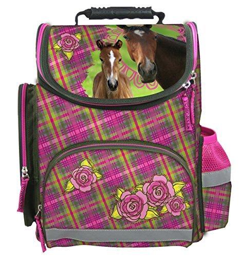 Maxi & mini horses large ergonomic schoolbag rucksack school horse pony horses