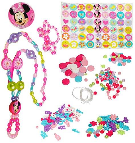 Unbekannt Bastelset: Schmuck - Armbänder & Ketten -  Disney Minnie Mouse  - incl. Buchstaben fü Namen - für Kinder - Mädchen - Kinderschmuck - Maus Perlen - Set Kette..