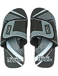 Boys Urban Beach Pine Island Greeen Adjustable Beach Mule Sandals Flip Flops-Uk 5 (eu 38)