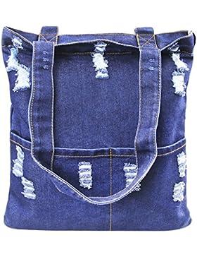 Damen Denim Jeans Tasche Umhänge