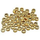 YC 100pcs oro intagliato rotondo distanziatori perline 4* 7mm Big HOLE6MM