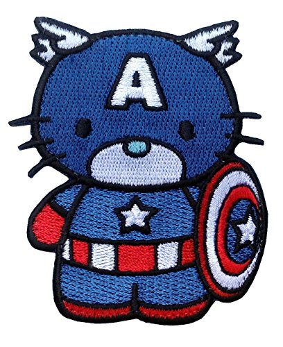 Iron On Kitty Captain America Morale Tactical Military Applique Patch by Titan One Aufnäher Aufbügler Patch