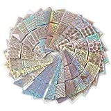 Futurekart Nail Art Self-Adhesive Stencil Stickers Set Waterproof Salon Nail Stamping Printing Image Stamps Guides...