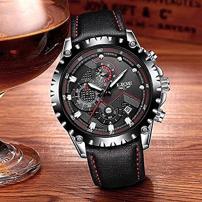 LIGE-Sport-Herren-Uhren-Quarzuhr-Luminous-Man-Armbanduhr-Relogio-Musculino-Chronograph