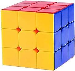 TamBoora Sticker Less Smooth Swing Rubiks Cube (3X3x3, Medium)