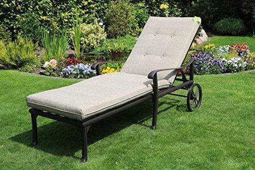 Hanseatisches Im- & Export Contor GmbH Aluguss Gartenliege Sonnenliege Deckchair Liege Liegestuhl...